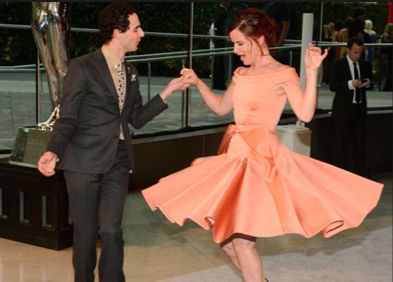 Juliette Lewis and Zac Posen at the CFDA Awards